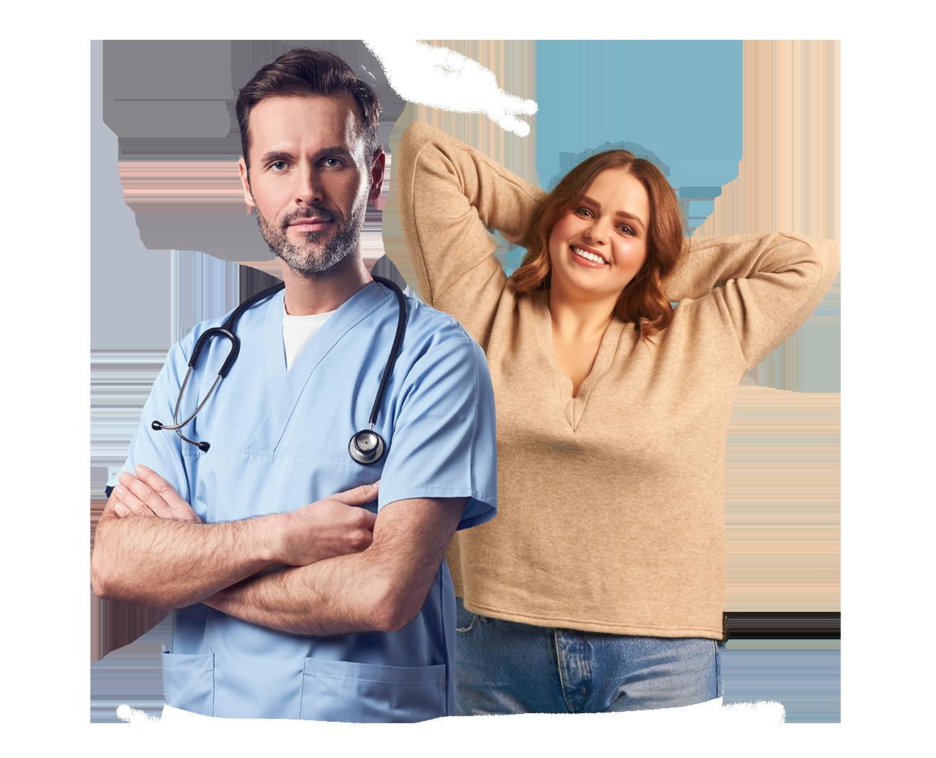professionnel de santé et patiente obésité